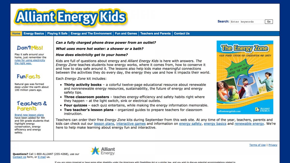 alliant energy kids